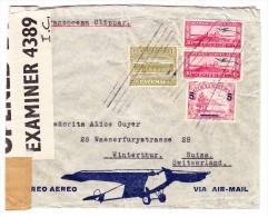 Guatemala Flugpost 12.6.1942 Zensur Brief - Guatemala
