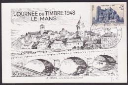 France Journée Du Timbre 1948 - Le Mans - ....-1949
