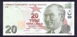 Turkey 20 Lira 2013 UNC - Turkey