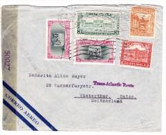 Guatemala Flugpost 5.11.1941 Zensur Brief Mit Trans-Atlantic Route Stempel In Violett - Guatemala
