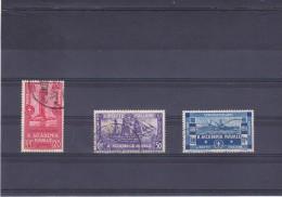 ITALIE 1931 ACADEMIE NAVALE BATEAUX Yvert 280-282 Oblitéré Cote : 6 Euros - 1900-44 Victor Emmanuel III
