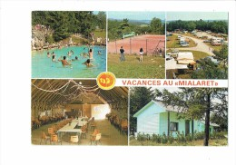 V.V.F. Du MIALARET à NEUVIC D'USSEL - Multivues - Joueurs  Jeux Volley-ball Tennis - Camping Caravanes - Volleyball