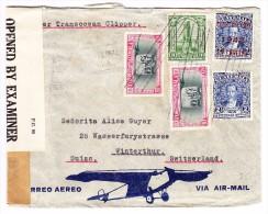 Guatemala 1942 Flugpost Zensur Brief Nach Winterthur - Guatemala