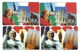 Viaggi Del Santo Padre 1994 Itali-croazia 2 X 5000+10000 Lire Nuove Cod.schede.02 - Vatikan