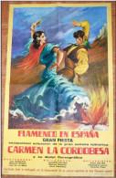 "Grande affiche - ""Flamenco en Espana"" - Carmen la Cordobesa."