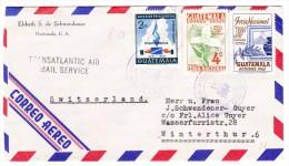 Guatemala 10.8.1954 Flugpost Brief In Die Schweiz - Guatemala