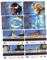 Segni Zodiacali Ariete Toro Bilancia Pesci 2000-3000-5000-10000 Lire Nuove Cod.schede.05 - San Marino