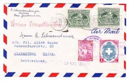 "Guatemala 28.9.1950 Flugpost Brief Nach Winterthur Mit Stempel ""Transatlantic Air Mail Service"" - Guatemala"