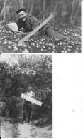 1914-1915 Meuse Saint-mihiel Ferme De Marsoupe Le Printemps Soldat Allemand Allongé Dans L´herbe 2 Cartes Photos Ww1 Wk1 - War, Military