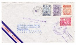 "Guatemala 31.10.1947 Flugpost Brief Nach Winterthur Mit Vermerk ""Affranchi Par Avion Jusqu'à New-York"" - Guatemala"