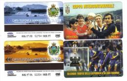 SAN MARINO Coppa Interncontinentale Tokio 1985 3000 Lire + Trofeo Della Repubblica 2000 Lire Juventus Nuove Cod.schede07 - San Marino