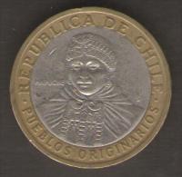 CILE 100 PESOS 2006 BIMETALLICA - Cile