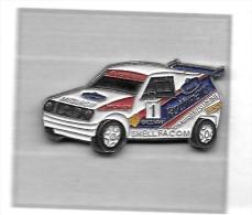 Pin´s  Sport  Autombile  MITSUBISHI, Rallye  Avec  Rothmans, Shell, Michelin, Facom - Rallye