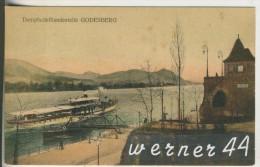 Godesberg V. 1913 Dampfschifflandstelle Godesberg Mit Dampfer Elberfeld, Mit Waschraum Im Gebäude (6349) - Bonn