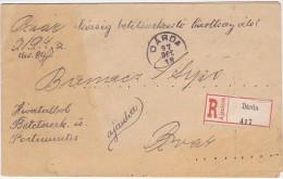 LETTRE RECOMMANDEE  --   DARDA, BARANYA, CROATIA  --  1897  --  RRR - Kroatien