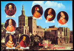 Les 7 Papes D´Avignon (1309 / 1376) - Format CP. - Papes