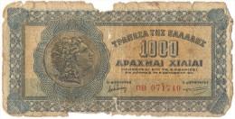 GREECE 1000 Drachmas 1941 (Grece, Drachmai, Drachmes, Griechenland, Griekenland, Grecia) - Greece