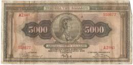 GREECE 5000 Drachmas 1932 (Grece, Drachmai, Drachmes, Griechenland, Griekenland, Grecia) - Grèce