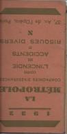 Calendrier Agenda De Poche/La Métropole/Cie D´Assurances/Paris/1932   CAL218 - Calendriers