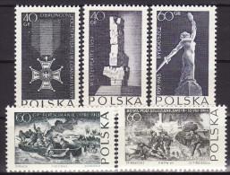 Poland 1964. MNH (**), Mi 1533/37 - 1944-.... République