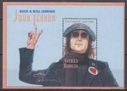 Sheet III, Antigua Sc1962A Music, Singer John Lennon, Beatles, Chanteur, Musique - Zangers