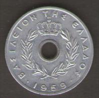 GRECIA 10 LEPTA 1959 - Grecia