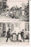 FILLETTES DE BEUZEC 30 LA PREMIERE GAVOTTE 1916 - Beuzec-Cap-Sizun