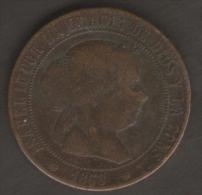 SPAGNA 5 CENTIMOS DE ESCUDO 1868 - [ 1] …-1931 : Regno
