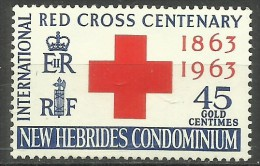 New Hebrides - 1963 Red Cross 45c MH *  SG 97  Sc 95 - English Legend