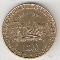 *italy 200 Lire 1989  Km 130  Xf+ - 1946-… : Republic
