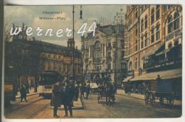 Düsseldorf V.1923 Wilhelm Platz Mit Bahnhofs-Hotel,Hotel Wilhelmplatz,Pferdefuhrwerke,Strassenbahn Usw.(6358) - Düsseldorf