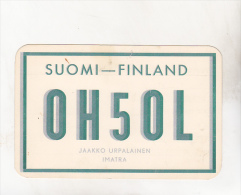 Finland OH5OL Imatra Old Circulated QSL Card - Unclassified