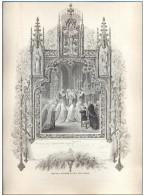Ancien Souvenir De Première Communion - Année: 18??. - Vieux Papiers