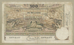 BELGIUM - 100 Francs  1920  P78  Fine  ( Banknotes ) - [ 2] 1831-... : Belgian Kingdom