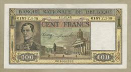 BELGIUM - 100 Francs  1945  P126  VF-EF  ( Banknotes ) - [ 2] 1831-... : Royaume De Belgique
