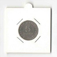 5 Drachmas 1990 Aristotle (Greece, Grece, Griechenland, Griekenland, Grecia, Drachmai Coin) - Greece