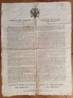 LOMBARDO VENETO - MILANO 1814 - MANIFESTO MILITARE  BILINGUE  QUARTIER GENERALE. - Altre Collezioni