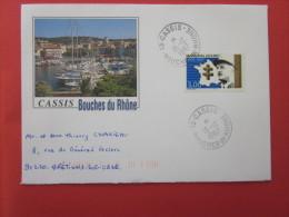 1997 OMEC LETTRE ILLUSTREE   RV CASSIS BDR   >TIMBRE MARECHAL LECLERC -> Faire Défiler Scann - Marcophilie (Lettres)