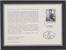 Merkur Karte ANK 1298 Angelika Kauffmann Phila-Archiv Ersttag FDC 1968 - FDC