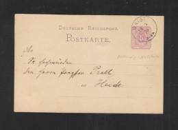 Dt. Reich GSK 1879 Wrist Nach Heide - Deutschland