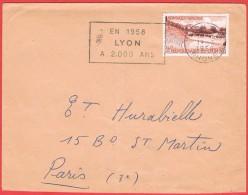 Bimillénaire De Lyon N° 1124 Y.T.  + Flamme En 1958 Lyon à 2000 Ans - Postmark Collection (Covers)