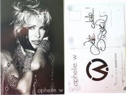 Carte Postale - Ophelie WINTER - Hand Signed,  Dédicace, Signé - Authographe - Cantanti E Musicisti