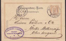 Poland Vorläufer Austria Postal Stationery Ganzsache JOACHIM J. DANKO, SAYBUSCH Zywcu 1894 METZENSEIFEN Ungarn (2 Scans) - Ganzsachen