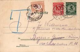 ALLEMAGNE CARTE INFLATION TAXEE EN ITALIE 1924 - Deutschland