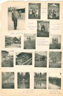 FRA068 QUINDICI (15) FOTO ORIGINALI ANTICHE AGOSTO SETTEMBRE 1946 PADOVA – FIERA PRIMIERO – CAORIA – PASSO ROLLE- LAGO V - Persone Anonimi