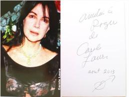 Carte Photo De Carole LAURE - Hand Signed, Dédicace, Signé - Autographe Authentique- - Artistes