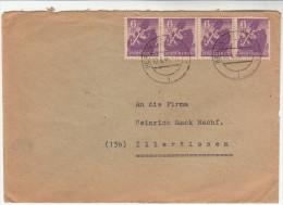 Brief-Kuvert Nach Illertissen, Marke Und Stempel Berlin, Berliner Bär, Als MeF, 1946 - Sowjetische Zone (SBZ)