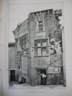 Drome , Suze La Rousse , Gravure De Gillot , Circa 1920 - Stiche & Gravuren