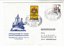 Brief-Kuvert Private Ganzsache Mit ZF, Sonderstempel Göttingen, Arge Kolonialpostwertzeichen, 1988 - BRD
