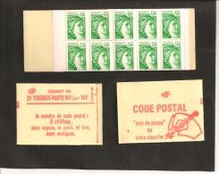 CARNET  1973 C 1a     Avec Trait Repère Vert à Gauche   Neuf  Cote 45,00 - Usage Courant
